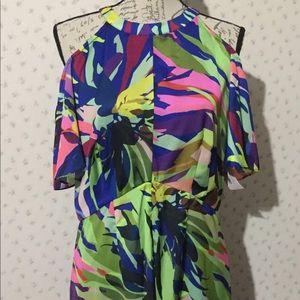 Gibson Latimer tropical oasis high low dress